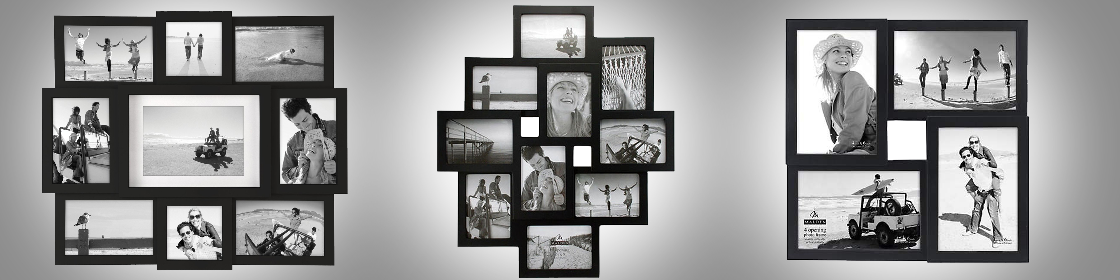 Tradition style black collage frames