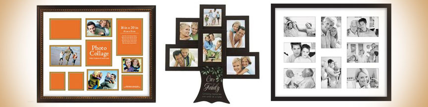 Extensive selection of collage picture frames