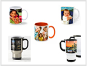 photo mugs and stainless steel travel mug