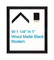 Matte Black Modern Poster Frame With Varying Sizes