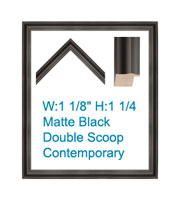 Matte Black Double Scoop Modern Poster Frame