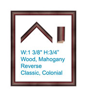 Mahogany Reverse, Traditional, Colonial