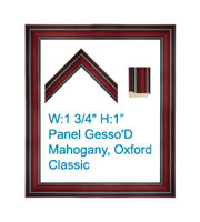 Panel-Gesso'D Mahogany, Oxford/Classic