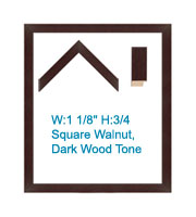 Square Walnut Contemporary Wood Tones